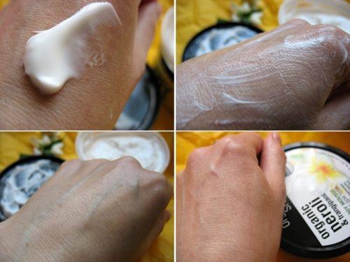 применение крема для тела Органик Шоп